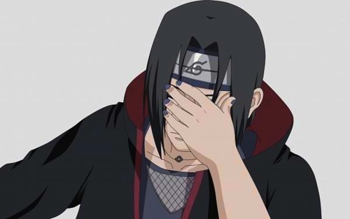 Itachi facepalming @ Sasuke