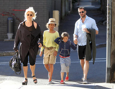 Hugh Jackman with Family