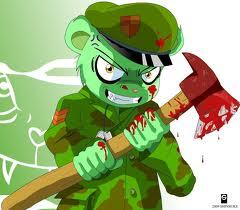 i have my guard dog and my army bear. this guy will take a lot to defeat him so....FLIPPY ATTACK!
