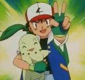 ash with his chikorita peace out >3