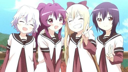 Yay I can post one of my kegemaran scenes from YuruYuri ;3 Such a great Kyoko x Ayano moment <3