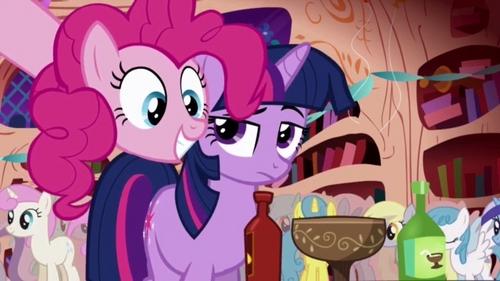 Either Pinkie Pie или Twilight. I'm random, hyper, and I like Конфеты like Pinkie Pie, but I'm also smart and like to read like Twilight. My friend thinks I'm a Twilight, I took the пони personality test twice and got Twilight once and Pinkie the other time.