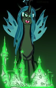 I'm going to cheat a little and give my love to Queen Chrysalis.
