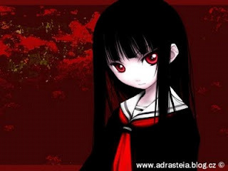 Mine is Ai Enma from Jigoku Shojo :3