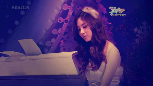 Seohyun with piano
