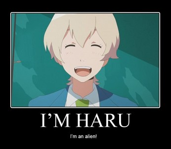 Haru isn't even from our planet, so yeah........ he isn't japanese.