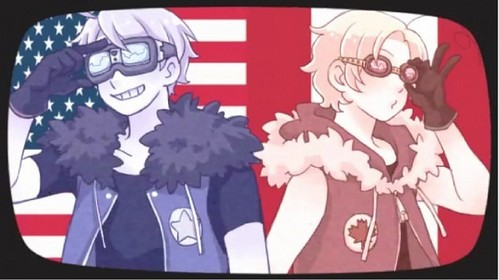 I happen to be able to easily post both of them in the same picture~ Favorite: Canada Least favorite: America