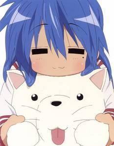 Konata has a 痣, 鼹鼠 under her eye