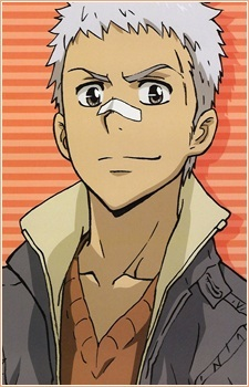 Sasagawa Ryohei-kun from KHR! He has a scar on his forehead....