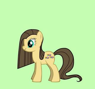 My cutie mark: 3 Nyan gatos Name: chocolate Swirl Gender: Mare Type of creature: Earth poni, pony (i forgot the horn!) Size: Like all the other ponies Nice o bad: Very nice! Personality: Generous, kind and funny Ability: Helps everypony see the colorful arco iris of life por letting them smile!