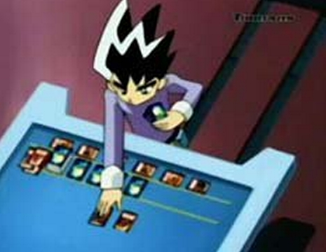 Hmm..There's Duel Masters it's a trading card game anime! I remember I use to have some of the cards.
