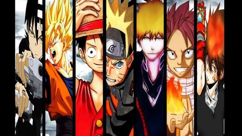 Mangas and anime huh ? Soul eater,Dragon ball z,One piece,Naruto,Bleach,Fairy tail,Hitman and so on... If u want zaidi Pls jiunge my club http://fanpop.com/spots/usuitakumi77
