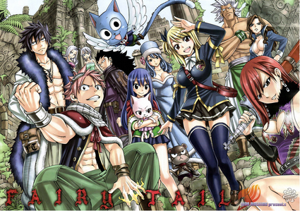Try Fairy Tail if wewe like fantasy, action, adventure, and funny anime :D