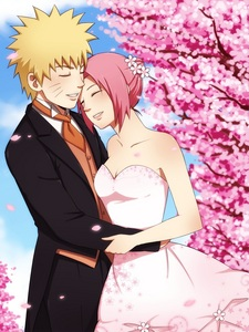 Post an anime wearing a wedding dress anime answers fanpop sakura haruno soon 2 be uzumaki in this pic voltagebd Gallery