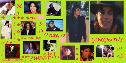Hy!I was bored,so I made this collage with MJ's cuteness and I wanted to know what do 你 guys think about it!
