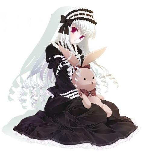 Anime black dress