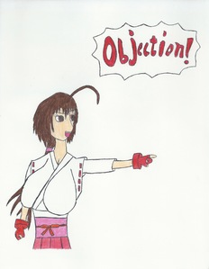 Post an 아니메 character making an objection