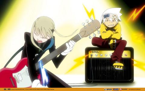 Post an anime character with a guitar, gitaa
