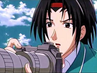 Post an Anime character with a camera