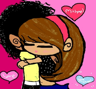hola guys check out my new desktop i made me and Michael hugging is it cute o what :D?You can use it if tu want to btw :)