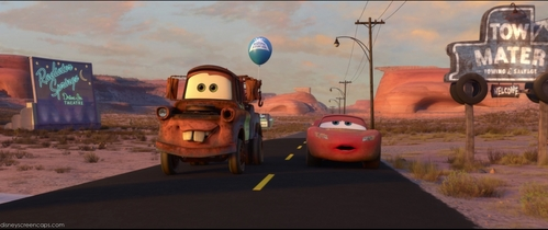 Where Did Mater Get That Balloon That Was On His Tow Cable?