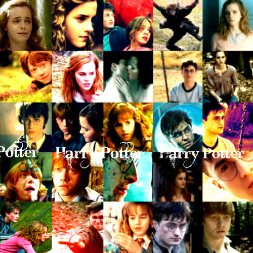 Harry Potter Book Cover Collage : Post a collage of harry potter propsss