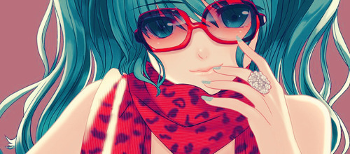 Post a picture of an anime character girl with sunglasses