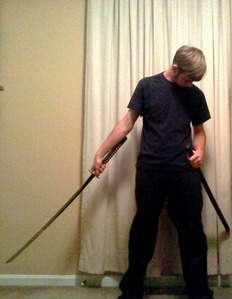 Post a pic of yourself with a weapon. Please?