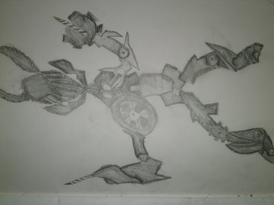 What do you guys think of this drawing? Drew it myself about 2 yrs ago and found it again. Sorry it's sideways i wasn't sure how to change the orientation.