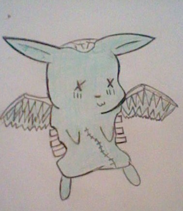 Who wanted me to draw a zombie flying mint bunny?