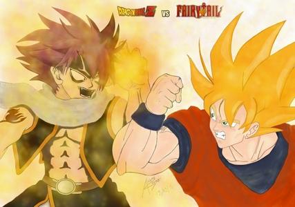 natsu dragoneel vs son goku who wins animé réponses fanpop