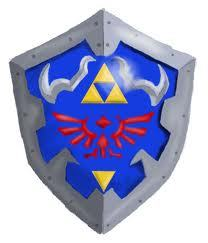 What is the fourth triforce on the hylian shield?