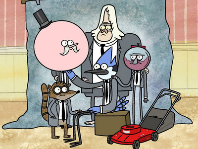 If Ты meet with anyone on Regular Show, who would that be?