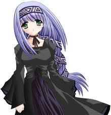 Post An Anime girl with Blue hair!! It could be short atau long!!:)