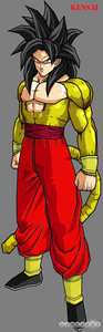 My recolor of ssj4 goku, Kensai . Plz tell me if anda guys like I do take requests but they have to be DBZ chracter and i can't change the color if they have white grey atau black on them. also tell me 3 of ur fav.colors and a new name for the character.