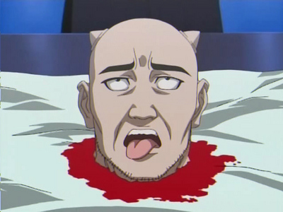 Decapitation in an anime