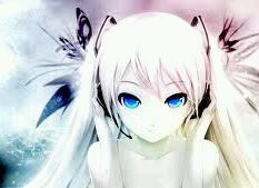 Post a pic of an Anime girl with white hair like this: