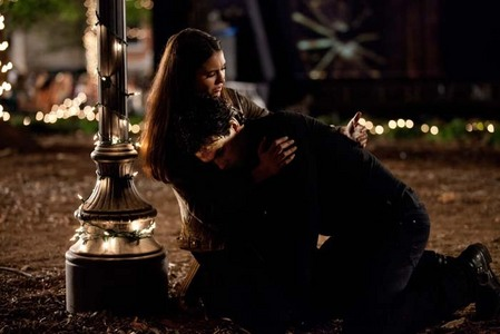 Post a pic of Damon and Elena, together