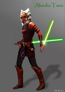 I've been curious about when exactly Ahsoka started to carry 2 lightsabers. Did I miss something? If anyone knows the answer to this domanda it would be greatly appreciated. Thanks.
