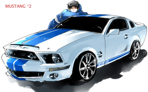 Post a picture of an Anime character and their car. :D