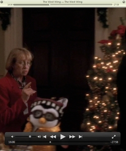 I was watching season 1 of The West Wing & I saw Joey's Hugsy. I took a screenshot of it. What's going on?! :D