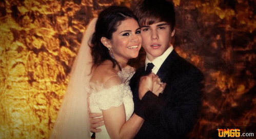 funny pic of jb and selena