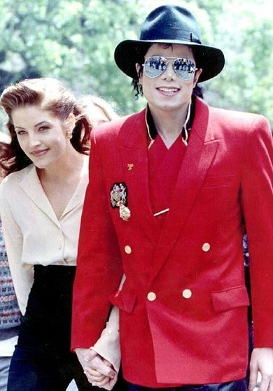 Michael with his ex-wife Lisa