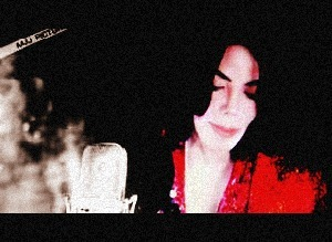 Michael looking sad in the recording studio
