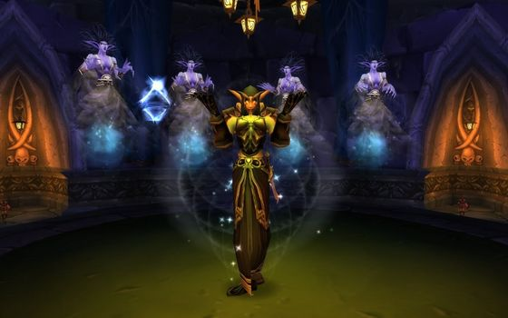 Sylvanas and her banshee choir performing the lament.