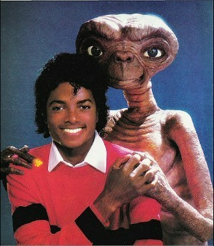 Michael with E.T.