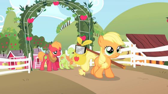 Apple Jack as a filly