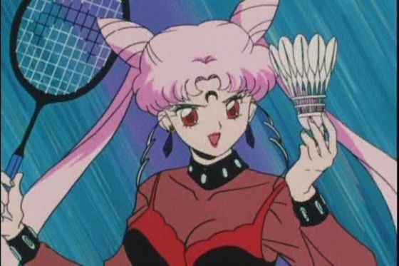 "Black Lady ""attacking"" Sailor Senshi"