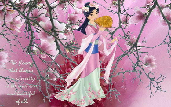 The Language Of Flowers Mulan Disney Princess Fanpop