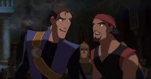 Sinbad and Proteus on their way to see the King.